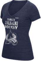 Reebok Women's Colorado Avalanche Block Rhinestone T-Shirt