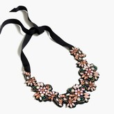 J.Crew Fabric-backed crystal cluster necklace