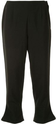 Comme Des Garçons Pre Owned Flared Hems Cropped Trousers