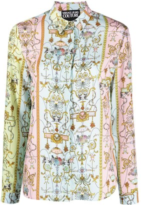 Versace Jeans Couture Baroque-Print Long-Sleeve Shirt
