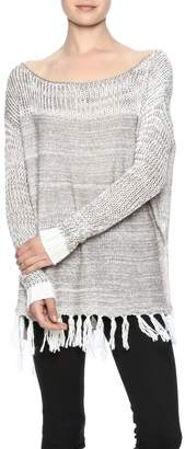 Two Chic Luxe Fringe Spring Sweater