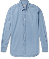Canali - Slim-fit Button-down Collar Denim Shirt