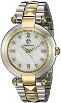 Cabochon Women's 16088-SR-22 Cairo Analog Display Quartz Two Tone Watch