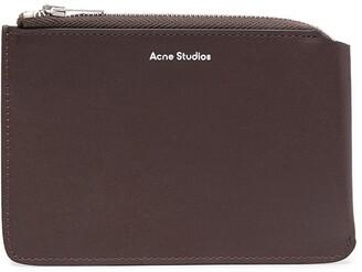 Acne Studios Top Zip Leather Wallet