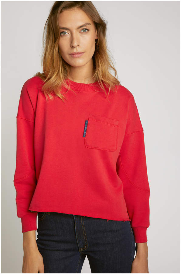 V&A Maison Labiche Womens - Coucou Ca Va Sweatshirt - cotton | red | XL/42 - Red/Red