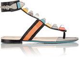 Fendi Women's Studded Gladiator Sandals-Dark Grey