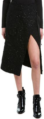 Moncler Genius Wool-Blend Wrap Skirt