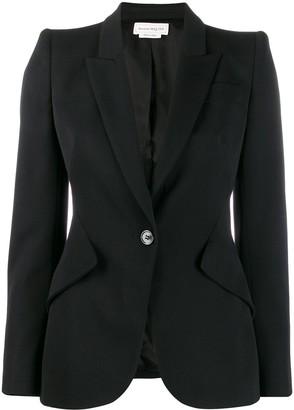 Alexander McQueen cropped sleeve blazer
