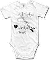 onlyou I Hooked Daddy's Heart Girls Cute Baby Onesie Bodysuit