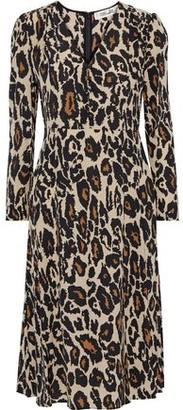 Diane von Furstenberg Viviana Button-detailed Printed Silk Dress