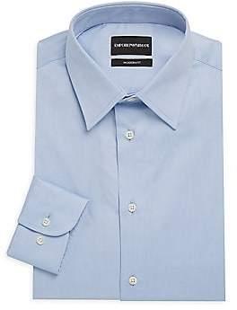 Emporio Armani Men's Modern-Fit Solid Dress Shirt