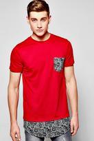 Longline Bandana Print T Shirt
