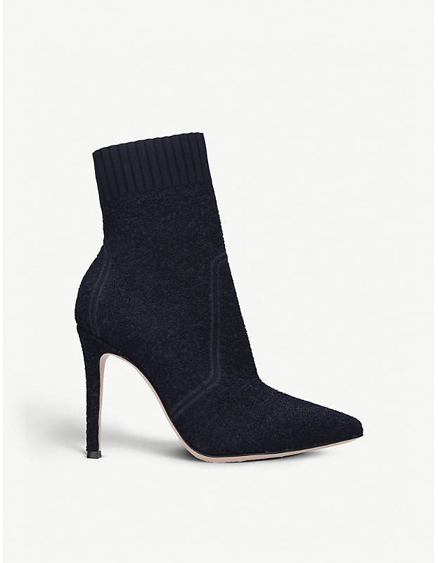 Gianvito Rossi Katie 105 suede sock ankle boots