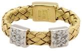 Roberto Coin 18K 2-Tone Gold Woven Diamond Band Ring