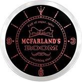AdvPro Clock ncpe1816-r McFarland's Girl Princess Kids Room Night Light Neon Sign LED Wall Clock