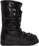Moncler Black Leather Laetitia Boots