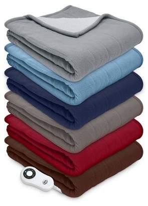 "Serta 50"" x 60"" Microfleece Electric Warming Throw Blanket"