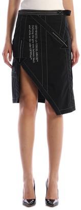 Off-White Black Nylon Skirt