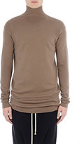 Rick Owens Men's Compact Rib-Knit Elongated Sweater-BEIGE, GREY
