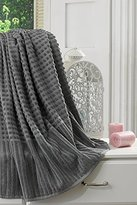 Ottomanson Pure Turkish Cotton Collection 100% Authentic Towels Luxury Bath Sheet, Grey