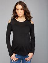 A Pea in the Pod Pietro Brunelli Cold Shoulder Maternity Sweater
