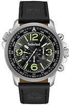 Timberland Men's Stainless Black Leather Multi-Function Watch