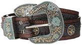 Nocona M&F Western Embossed Wash Rihinstone Concho Belt Women's Belts