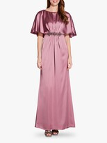 Adrianna Papell Draped Cape Dress, Rose