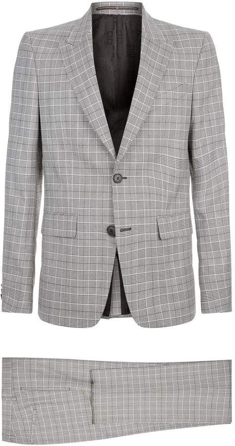 Givenchy Metallic Prince of Wale Check Suit