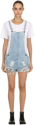 The People Vs. Joan Repatched Destroyed Short Overalls