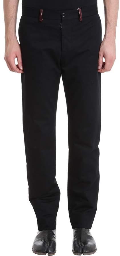 Maison Margiela Black Cotton Pants