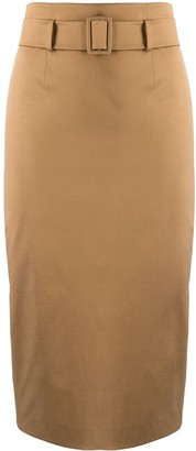 Alberto Biani High-Waisted Belted Pencil Skirt