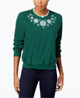 Alfred Dunner Petite Holiday Classics Dog Graphic Knit Top
