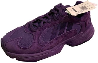 adidas Yung-1 Purple Suede Trainers