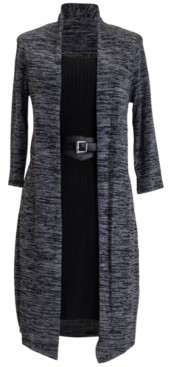 Connected 2-For-1 Belted Jacket Dress