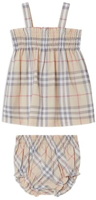 Burberry Kids Vintage Check Dress and Bloomers (1-18 Months)