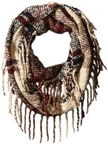 Rampage Women's Boucle Plaid Infinity Scarf