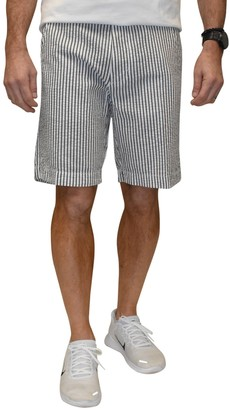Vintage 1946 Striped Seersucker Flat Front Shorts
