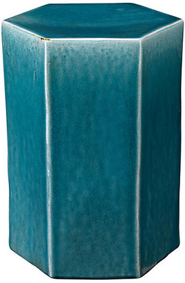 Jamie Young Large Porto Outdoor Side Table - Blue