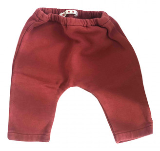 Marni Red Cotton Trousers
