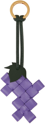 Bottega Veneta Purple Intrecciato Grape Keychain