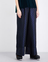 Sacai Paisley-patterned high-rise wide jacquard trousers
