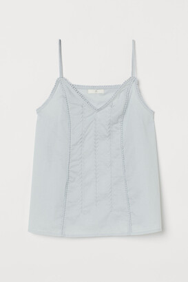 H&M Embroidered Cotton Camisole