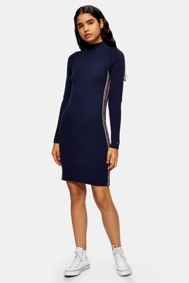 Tommy Hilfiger Womens Black Jumper Dress By Tommy Jeans - Black