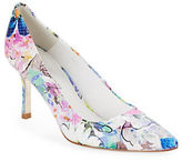 Donald J Pliner Treva Floral Leather Pumps