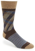 Bugatchi Men's Stripe & Check Socks