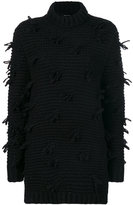 Simone Rocha frayed knit jumper