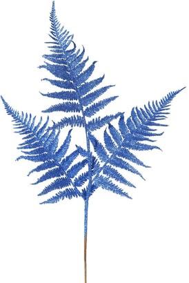 Vickerman Blue Glitter 22-inch Fern Spray