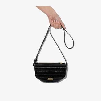 Wandler black anna croc-embossed belt bag