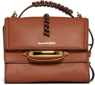 Alexander McQueen The Story Leather Top Handle Bag